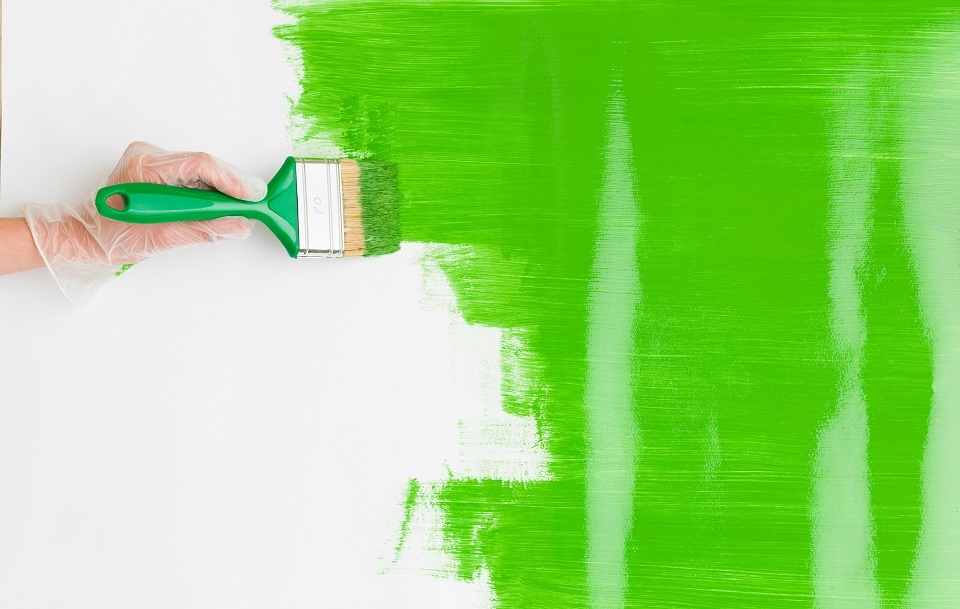 стена боядисана с латекс
